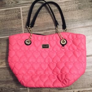 Betsy Johnson Large bright pink handbag